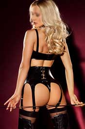 Tall blonde Dominatrix London escort Roxana